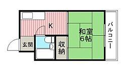 つばさハイツ[4階]の間取り