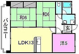 メゾンK−II[402 号室号室]の間取り