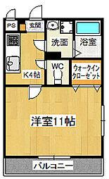 ドミール六番館[2階]の間取り