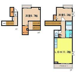 クレセントVII[2階]の間取り