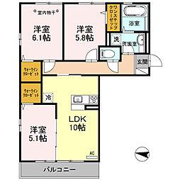 埼玉県春日部市梅田本町2丁目の賃貸アパートの間取り