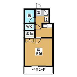 ラフィナートII[3階]の間取り