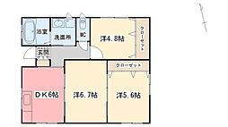 [一戸建] 福岡県久留米市西町 の賃貸【/】の間取り