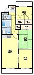 愛知県豊田市司町2丁目の賃貸マンションの間取り