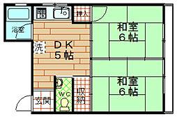 高木レジデンス[3階]の間取り