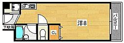 大阪府茨木市東中条町の賃貸マンションの間取り