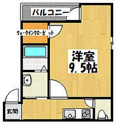 大阪府大阪市鶴見区横堤2丁目の賃貸アパートの間取り
