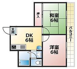 パークホーム王子[3階]の間取り