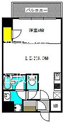 ブエナビスタ江坂広芝町 7階1LDKの間取り