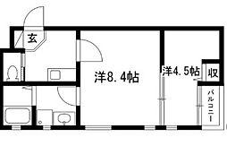 プリミエール上飯田南町[1階]の間取り