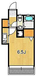福岡県福岡市中央区荒戸1の賃貸マンションの間取り