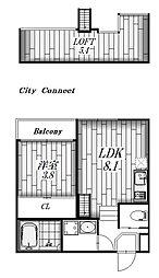 ステージ香呑町[1階]の間取り