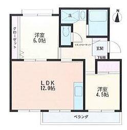マンション赤関[2階]の間取り