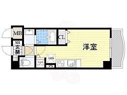 Osaka Metro御堂筋線 新大阪駅 徒歩5分の賃貸マンション 4階ワンルームの間取り