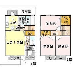 [タウンハウス] 兵庫県尼崎市武庫町4丁目 の賃貸【/】の間取り