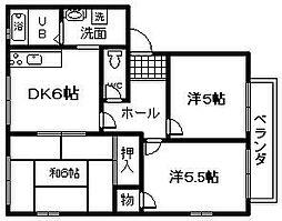 レジデンス鳥取[202号室]の間取り