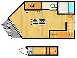 仮)岡本2丁目新築ハイツ 3階ワンルームの間取り