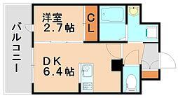 アンピールメゾン春日原駅前[4階]の間取り