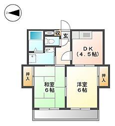クリエイティブ21[4階]の間取り