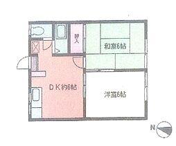 神奈川県横浜市都筑区勝田町の賃貸アパートの間取り