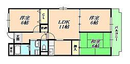 兵庫県神戸市垂水区清水が丘3丁目の賃貸マンションの間取り