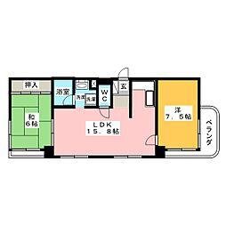 サンシャイン葵[3階]の間取り