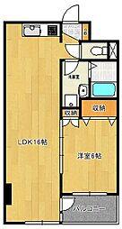 千葉県船橋市薬円台6丁目の賃貸マンションの間取り