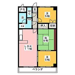 コンポースアライブ秀[4階]の間取り