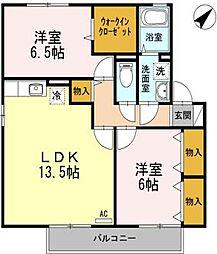 セジュールプルミエ B棟[2階]の間取り