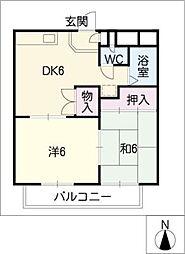 ウィステリア瀬戸[2階]の間取り