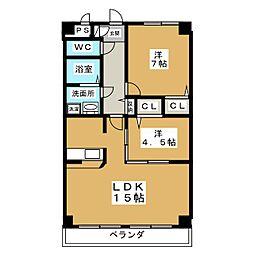 サニーコート富士[2階]の間取り