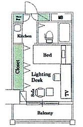 グリーンホーム東京[603号室]の間取り