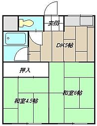 コーポ藤田I[203号室]の間取り