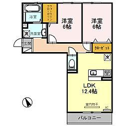 新築・都市ガスSaisonnier〜セゾニエ〜[1階]の間取り