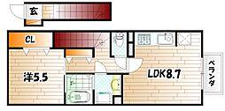 D-room葛原[2階]の間取り