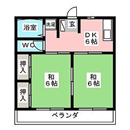 森ハイム[2階]の間取り