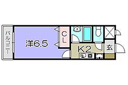 滋賀県東近江市小脇町の賃貸マンションの間取り