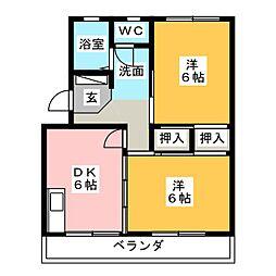 セントポーリアA[2階]の間取り