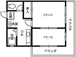 メゾンHM28[4階]の間取り