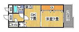エイチツ−オ−今川[206号室号室]の間取り