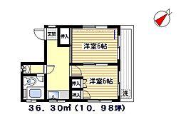 矢島ビル[201号室]の間取り