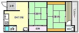 [テラスハウス] 大阪府柏原市法善寺2丁目 の賃貸【大阪府 / 柏原市】の間取り