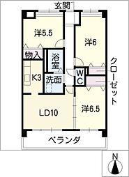 ワンダフルコートII[2階]の間取り