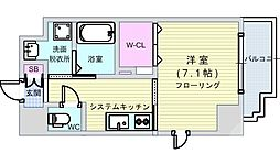 Osaka Metro千日前線 阿波座駅 徒歩8分の賃貸マンション 10階1Kの間取り