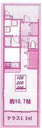 フローレスNK[2階]の間取り