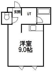 レラ円山[402号室]の間取り