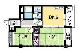 吉田山山荘[104号室号室]の間取り
