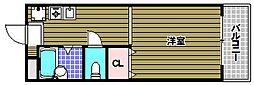 シャンソン 和泉中央[2階]の間取り