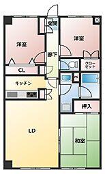 プライムコート[4階]の間取り