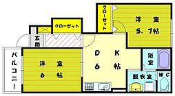 ラフレシ−ルⅢ[1階]の間取り
